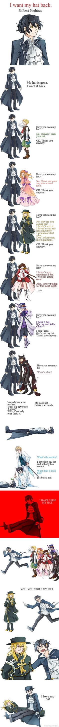 PH: I want my hat back by Wavewhisper.deviantart.com on @deviantART ~ *LAUGHING OUT LOUD*