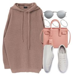 """Sin título #12224"" by vany-alvarado ❤ liked on Polyvore featuring ASOS, Yves Saint Laurent and Ray-Ban"