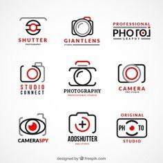 Coleção de logotipos de fotografia