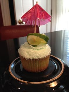 Margarita cupcakes.  Yes - there is tequila in the cake and the swiss butter cream