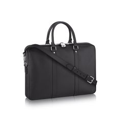 A Porte-Documents Voyage PM from Louis Vuitton adds an effortlessly stylish  piece to his b41a96adacec2