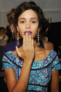 Berry lips & ombre nails