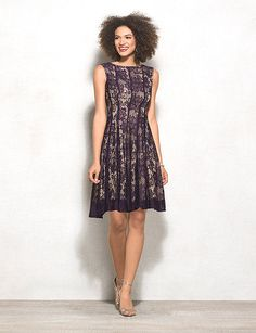 e1f3dd88f4 Not your average lace dress, this one's pop of purple adds an extra hint of  feminine flare. Dress up your look even more with a sparkly statement piece  and ...