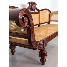 Anglo-Indian or British Colonial Mahogany Sofa 3