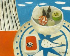 Mary Fedden - Still Life on Tabletop Matisse, Art Village, Pretty Drawings, Royal College Of Art, Still Life Art, Map Art, Beautiful Paintings, Illustrations Posters, Painting & Drawing