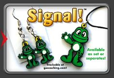 Signal Necklace Earrings or Medium Zipper Pull Trackable
