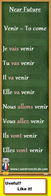 """http://www.learnfrenchlab.com   Learn French #verbs   How to conjugate """"venir"""" (to come) in the near future tense"""