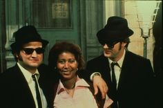 Blues Brothers with Aretha Franklin Behind the Scenes: List of the 100 Best BTS Photos from Iconic Movies