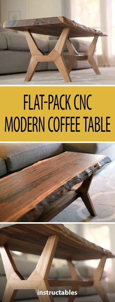 Flat-Pack CNC Modern Coffee Table #woodworking #furniture