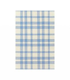 Dash & Albert Tattersall Blue Cream Woven Cotton Rug