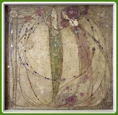 'The Red Rose and the White Rose' by  Margaret MacDonald MacIntosh