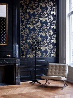 Sélection de papier peint style baroque ornementale dans différentes couleurs 5