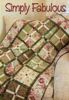 Simply Fabulous Quilt Pattern Pieced NM