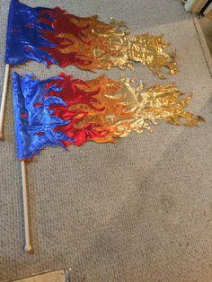 Fire Flags The Key Kreative Kollektion Praise Dance Wear, Praise Dance Dresses, Worship Dance, Praise And Worship, Dark Fantasy Art, Royal Ballet, Colour Guard, Dance Gear, Fire And Ice