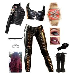 Wrestling Costumes, Wrestling Outfits, Wwe Outfits, Women's Wrestling, Stage Outfits, Inspired Outfits, Polyvore Outfits, Goth Clothes, Glam Room