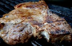 Grilled T-Bone Steak With Fried Green Tomatoes