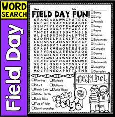 Field Day Word Search Freebie! This word search is a great way to keep ...