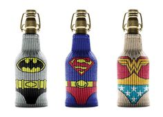Protect And Keep Your Drinks Cold With These Cute Superheroes Bottle Sleeves - DesignTAXI.com