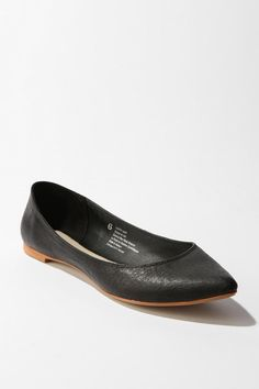 BDG Leather Pointy Skimmer  #UrbanOutfitters
