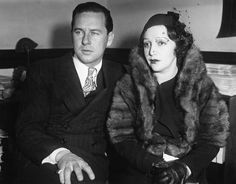 Bebe Daniels and husband Ben Lyon at the trial of her stalker, 1934 Hollywood Couples, Old Hollywood Glamour, Hollywood Actor, Vintage Hollywood, Classic Hollywood, Child Actresses, Actors & Actresses, George Brent, Bebe Daniels
