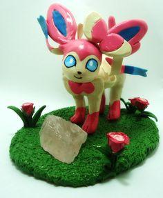 POKEMON: SYLVEON and Rose Quartz Sculpture- Make to Order