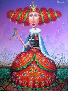 Zurab Martiashvili - sort of balls and balls, if that were a cartoon instead of a fine painting Quirky Art, Whimsical Art, Colorful Paintings, Beautiful Paintings, Arte Judaica, Arte Peculiar, Art Fantaisiste, Art Original, Toddler Girls