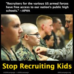 military recruiters in our high schools And it just so happens that our nation's public school system is a wealth of information about the greater part of our nation many people feel that military recruitment in high schools is a bad the presence of military recruiters in schools has been an institution for many.
