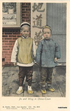 C-1910 Los Angeles California Chinese Boys Rieder Chinatown postcard 12695
