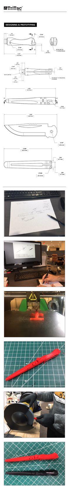 TriTac EDC Pen - It's a Pen, It's a Punch, It's a Knife by StatGear — Kickstarter. The design of the TriTac EDC Pen cuts no corners in design or materials.
