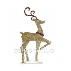 outdoor christmas reindeer decorations lighted indoor light up xmas decor led