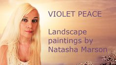 """"""" VIOLET PEACE"""" is creation of amazing landscape paintings of extraordinary Salt Lake & Exhibition event for nature lovers."""