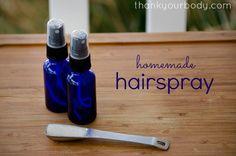 Homemade hairspray | Inspire Beauty Tips Laque pour cheveux fait maison DIY