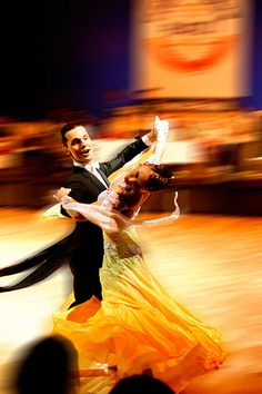 """Cool ballroom dance action shot """"Ball der Nationen"""""""