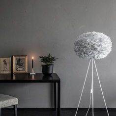 Eos Lamp Shade Large, Grey - Lighting - Living Room