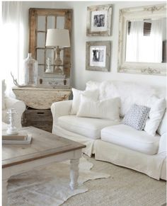 I want the animal skin rug so bad for my livingroom. I love the way it looks in this neutral modern farmhouse livingroom