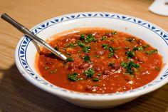 Острый томатный суп индийский
