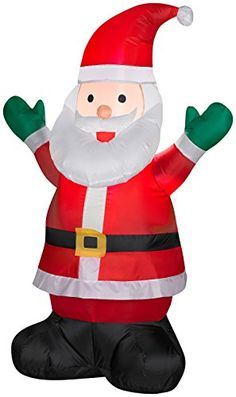Inflatable 4 Santa Claus Holiday Christmas Decoration -- Click on the image for additional details.