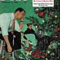 Trimming the Tree by George Hughes, December 24, 1949