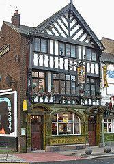 Image: 'The Old Black Bull Inn, on Friargate,+Preston,+Lancashire.+UK.', found on flickrcc.net
