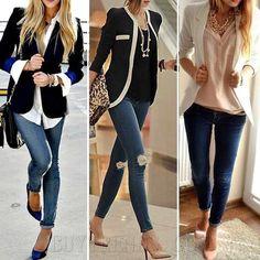 ¿Quién no ama el combo chaqueta / pantalones vaqueros , nunca va a pasar de moda
