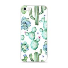 Cactuc & Succulent Cell Phone Case This hybrid case combines a solid polycarbonate back, with flexible, rigid sides. It fits your phone perfectly, and protects from scratches, dust, oil, and dirt. • M
