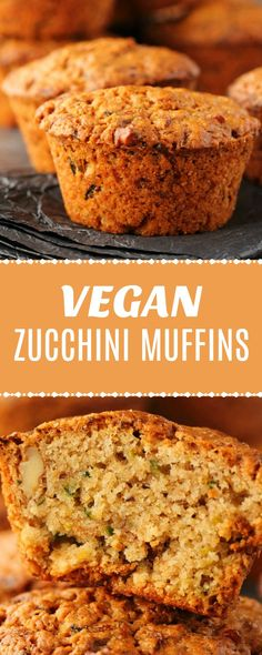 Wholesome and delicious vegan zucchini muffins. These vegan muffins are moist, f… Wholesome and delicious vegan zucchini muffins. These vegan muffins are moist, filling super easy to make, and fabulous either as is or spread with some vegan butter. Vegan Zucchini Muffins, Vegan Zucchini Recipes, Vegan Breakfast Muffins, Vegan Zucchini Boats, Cinnamon Muffins, Healthy Zucchini, Apple Cinnamon, Mini Muffins, Gluten Free Recipes