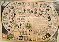 Dreyfus affair and truth game, 1898 poster in French museum