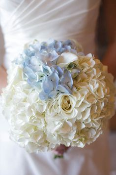 hydrangeas.. Something blue and great textures and flow