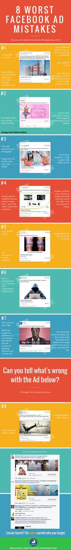8 Worst Facebook Ads Mistakes #Infographic @jasonhjh