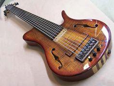 7string chambered Fretless by Watson Guitars!