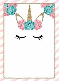 30 ideas birthday invitations unicorn baby shower for 2019 Unicorn Birthday Invitations, Unicorn Birthday Parties, Girl Birthday, Party Invitations, Happy Birthday, Unicorn Baby Shower, First Birthdays, Party Time, Crafts