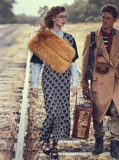 Last Train: Ondria Hardin and Jimmy Young-Whitforde by Will Davidson for Vogue Australia, March 2016
