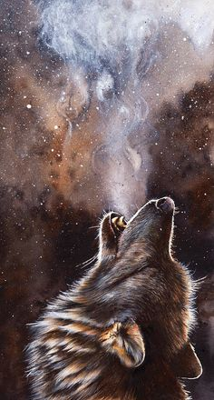 Wolf Print featuring the painting Cadence by Peter Williams