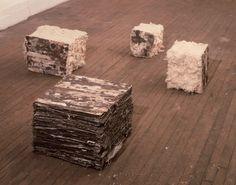 Leonardo Drew    cotton, canvas, rust